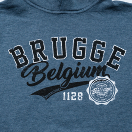 Hooded sweater Brugge/Belgium - Blue