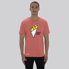 T-Shirt Vegan Food - Koraalrood
