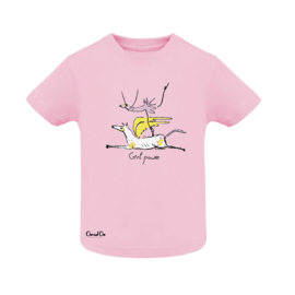 T-Shirt Baby - Girl Power - Pink
