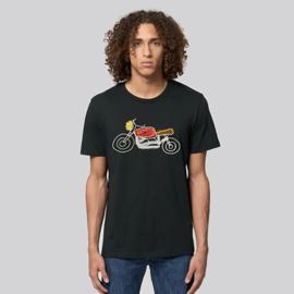 T-Shirt Moto - Zwart
