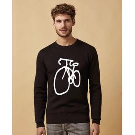 Sweater - Fiets - Zwart