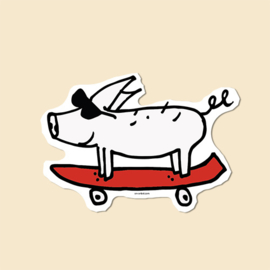 Sticker Pig Skater