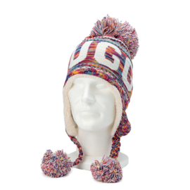 Winter Hat with pompon Brugge - Fuchsia
