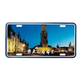 Nummerplaat Brugge - Halletoren