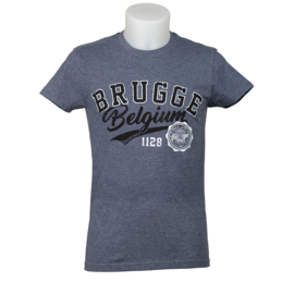 T-shirt Brugge - Blauw