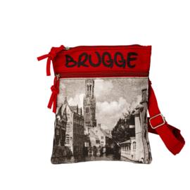 Passport tas Foto Brugge - Rood - Robin-Ruth