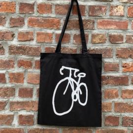 Tote Bag Fiets - Zwart