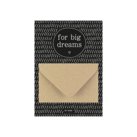 Geldkaart / For big dreams