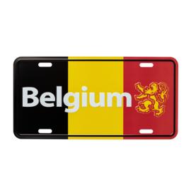 Nummerplaat België - Driekleur