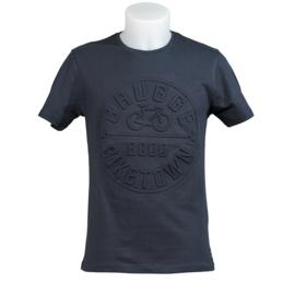 T-shirt Brugge fiets '8000' - Blauw