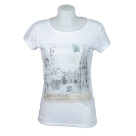 T-shirt Dames Brugge Rozenhoedkaai - Wit