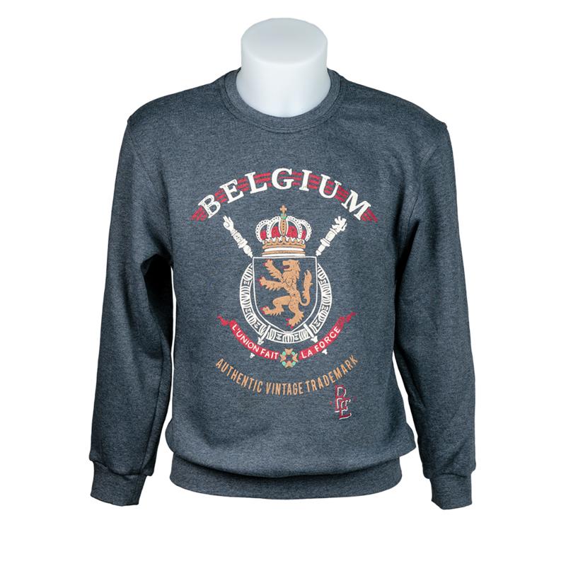 Sweater coat of arms Belgium - Grey