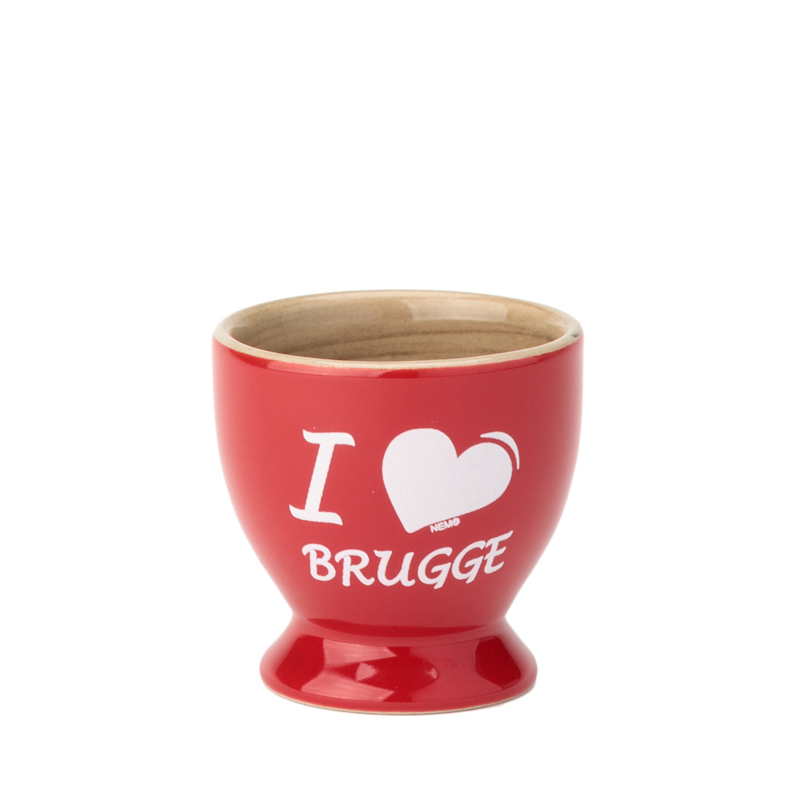 Eierdopje Brugge - Rood - 3 ontwerpen