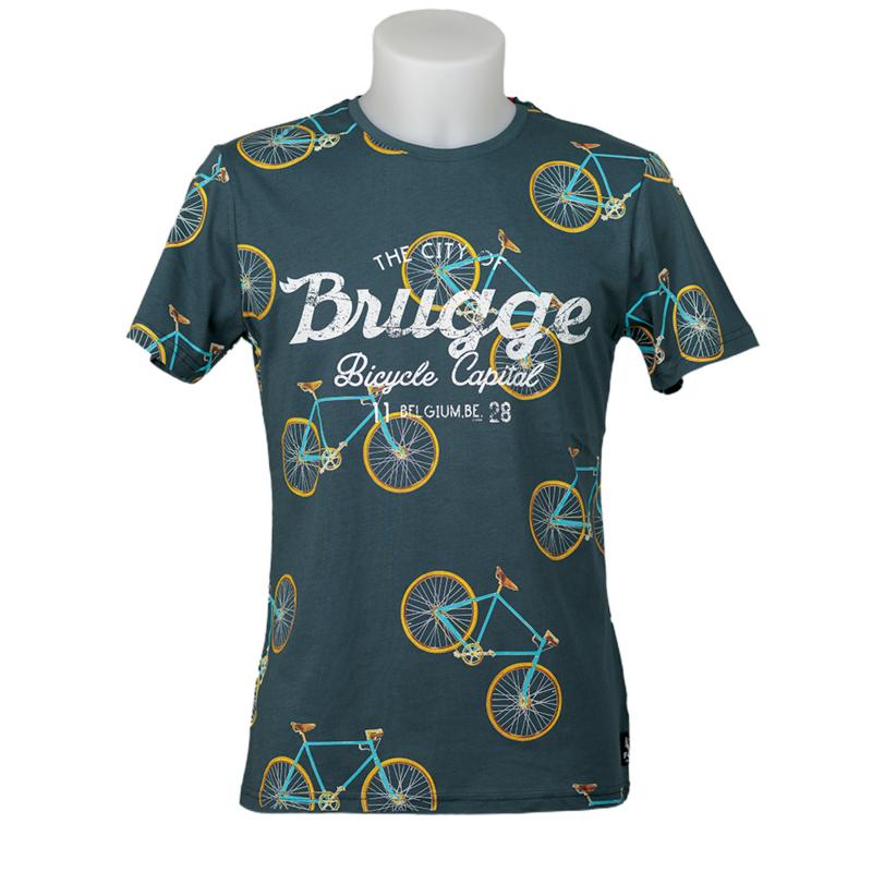 T-shirt Brugge Bikes - Petrol