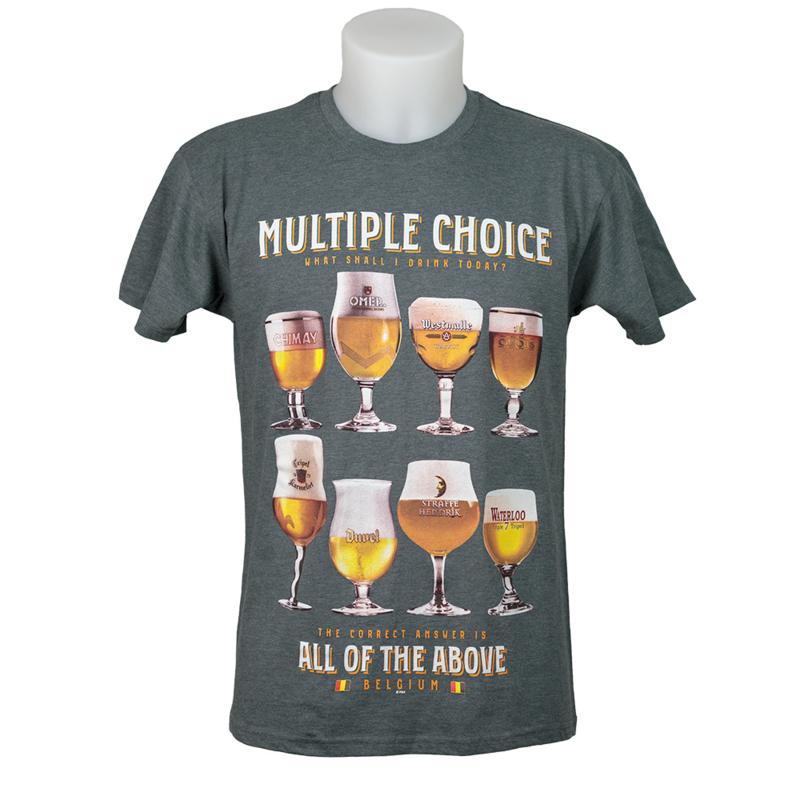 T-shirt Bier Multiple Choice - Grey
