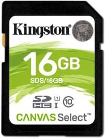 Kingston 16GB SDHC geheugenkaart