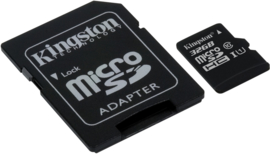 Kingston 32GB Micro SD kaart incl. adapter