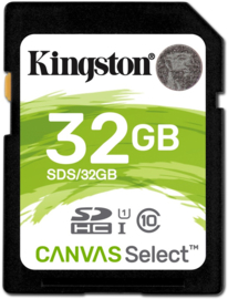 Kingston 32GB SDHC geheugenkaart
