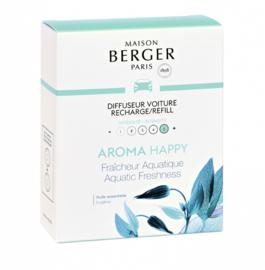 Lampe Berger - Auto parfum navulling Aroma Happy Fraicheur Aquatique / Fresh Aqua 2pcs.