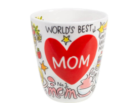 Even Bijkletsen Moederdag - 3D Beker Best Mom 350 ml