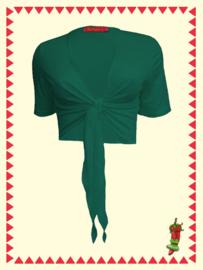 Mrs. Pepper Kort Knoop vestje groen