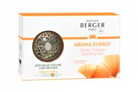 Lampe Berger - Auto Parfum Diffuser Zestes Toniques set / Sparkling zest set