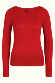 King Louie Marie Top Cocoon - Icon Red