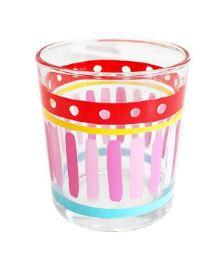 Even Bijkletsen  - Glas Uni Pink Stripe