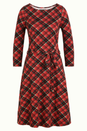 King Louie Betty Dress Chatham - Iron red