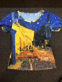 Caféterras bij nacht - t-shirt korte mouw