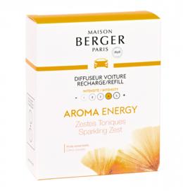 Lampe Berger - Auto parfum navulling Aroma Energy Zestes Toniques / Sparkling Zest 2pcs.