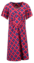 Tante Betsy Dress Funky Chekkie Daisy Red