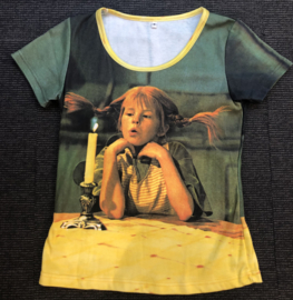 Pippi t-shirt korte mouw - Kaars