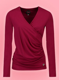 Tante Betsy Loose cross top cerise