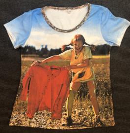 Pippi t-shirt korte mouw - rode doek