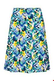 Zilch Skirt a-line Bouquet Lime