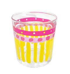 Even Bijkletsen  - Glas Uni Yellow Stripe