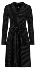 Tante Betsy Dress VeraLynn Pinstripe Black