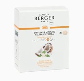 Lampe Berger - Auto parfum navulling Coco Monoi / Coconut Monoi 2 pcs.