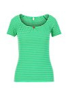 Blutsgeschwister Logo stripe heart t-shirt - green tiny stripe