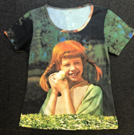 Pippi t-shirt korte mouw - Vogel