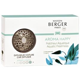 Lampe Berger - Auto Parfum Diffuser Aquatic happy set  / aqua freshness