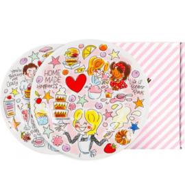 Even Bijkletsen Moederdag - Ontbijtborden Cake (set van 2) ø22cm