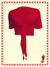 Mrs. Pepper kort knoop vestje rood