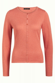 King Louie Cardi Roundneck Cocoon - Dusty Rose