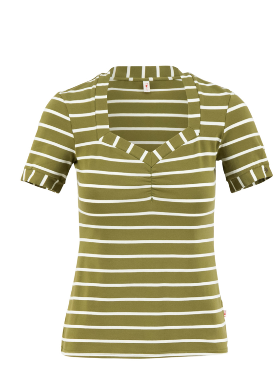 Blutsgeschwister Shirt Logo Stripe t-shirt - Stripe of nature green
