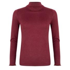Sweater raw edge plum