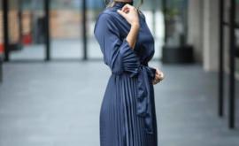 Dress plisse 'navy'