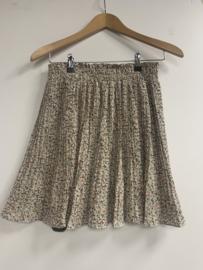 Skirt bewerkt plisse beige