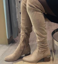 Laarzen hoog beige